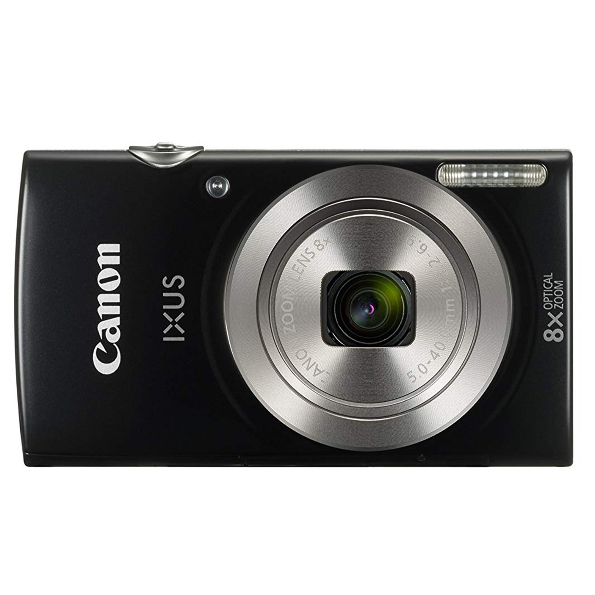 Canon IXUS 185 Black + Free Bag & Memory 8 GB