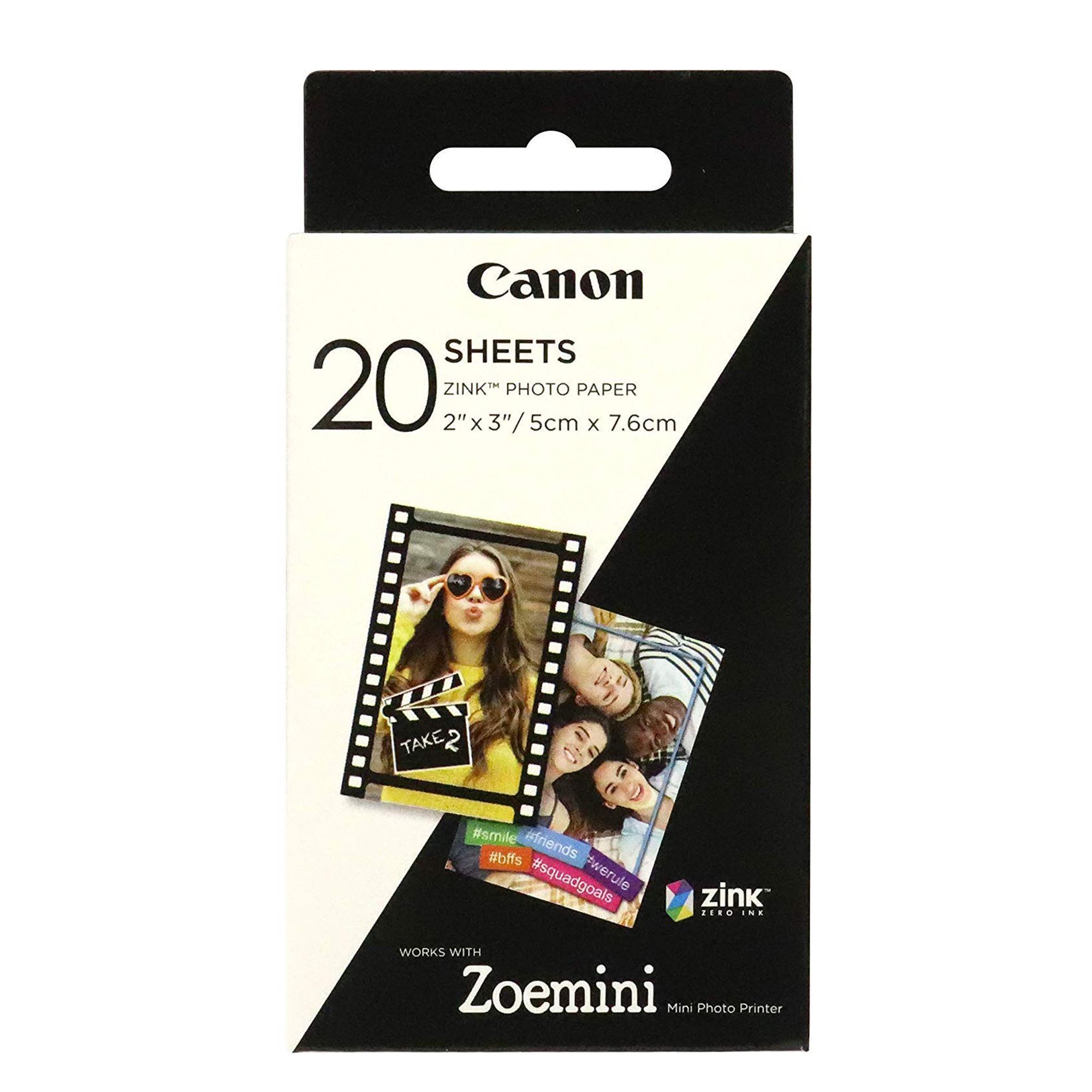 Canon Zoemini Zink Photo Paper (Pack of 20 Sheets)